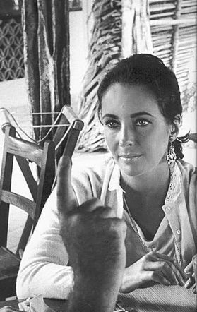 Elizabeth Taylor in Puerto Vallarta. Maureen: classy lady at the window. Divorced or widowed, husband with a mistress, smart and looking for trouble? Lonely?