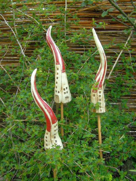 Pflanzen- & Gartenstecker - HÄUSCHEN Beetstecker, Keramik - ein Designerstück von beckkeramik bei DaWanda