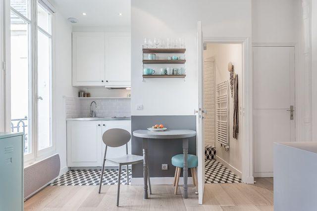 Petite cuisine équipée pour un studio - Côté Maison
