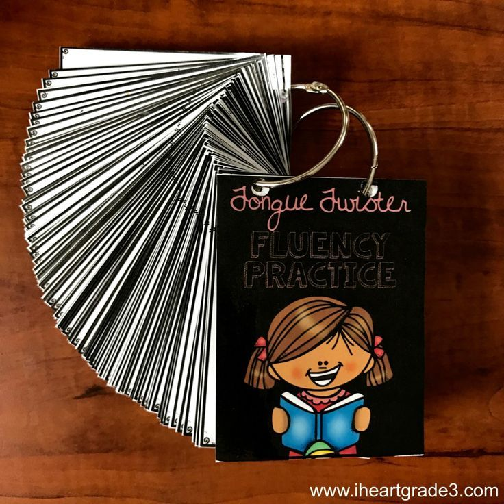 Tongue Twisters for Fluency and Pronunciation.  This low prep flash card set will help your primary students practice their reading, decoding, fluency, & communication skills.