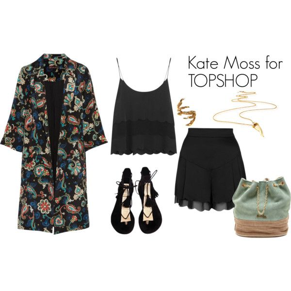 """""""Kate Moss for TOPSHOP 1"""" by ralucadu on Polyvore"""