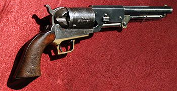 A favorite of Eastwood devotees everywhere -- it is one of the Colt Walker 1847 revolvers from The Outlaw Josey Wales.