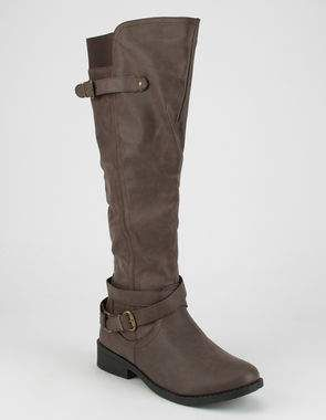 QUPID Buckles Womens Riding Boots