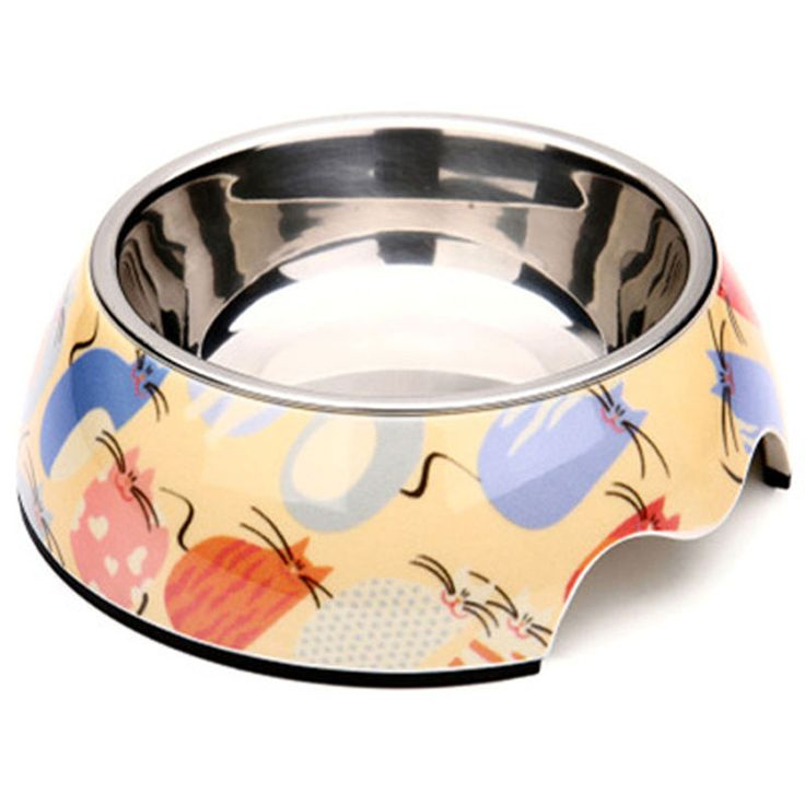 Puppy Ceramic Solid Dog Bowl Stainless Steel Pet Bowl Cat Water Comedero Perro Chihuahua Dog Gamelle Chien Pet Supplies 50A0535