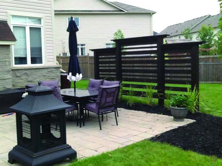 Stylish Ways to Decorate free standing patio privacy ...