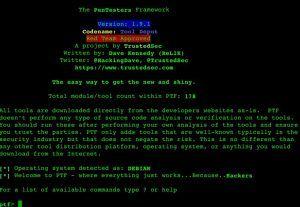 The Penetration Testers Framework (PTF) v1.9.1 codename: Tool Depot.