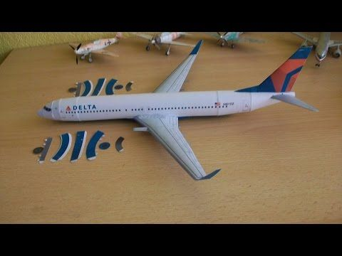 Delta B737 900 Papercraft - YouTube