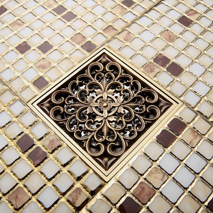 check discount free shipping wholesale and retail antique brass art carved flower bathroom floor #wholesale #flowers