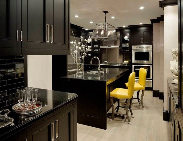 Find Black kitchen interior designs, black kitchen design ideas, tips to decorate black kitchen for home. Get latest black kitchen designs photo gallery.