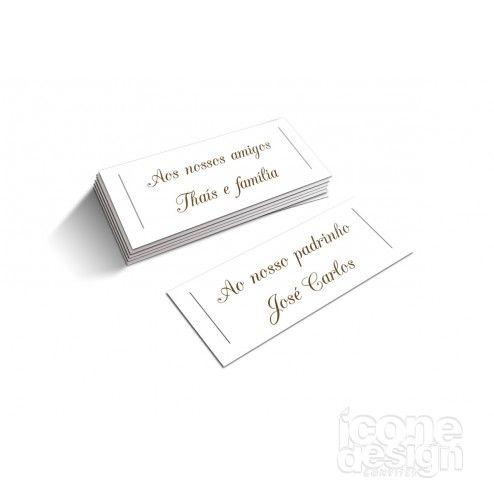 Conheça as Tags para Nome dos Convidados da ícone Design. Tag especial com o nome dos convidados para acompanhar seus convites ou lembrancinhas de casamento. Disponível em dois modelos diferente. Acesse nossa página ou entre em contato e fale com nosso representante.