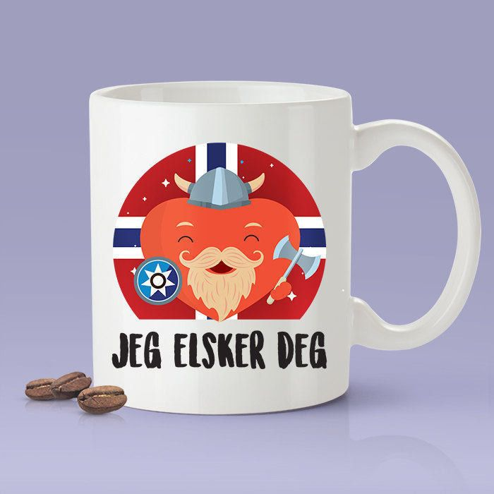 Norwegian Lovers Mug - [Gift Idea For Him or Her - Makes A Fun Present] I Love You Norwegian Mug - Norway / Jeg Elsker deg