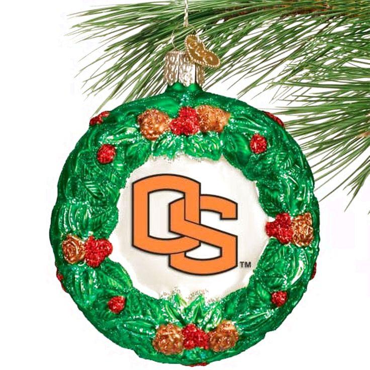 Oregon State Beavers Glass Wreath Ornament - $11.99