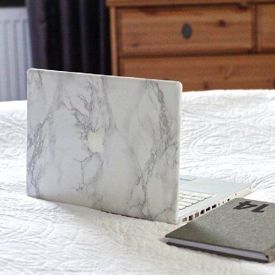 Diy Book Cover For Laptop : Learn how to make a marble cover for your computer in just