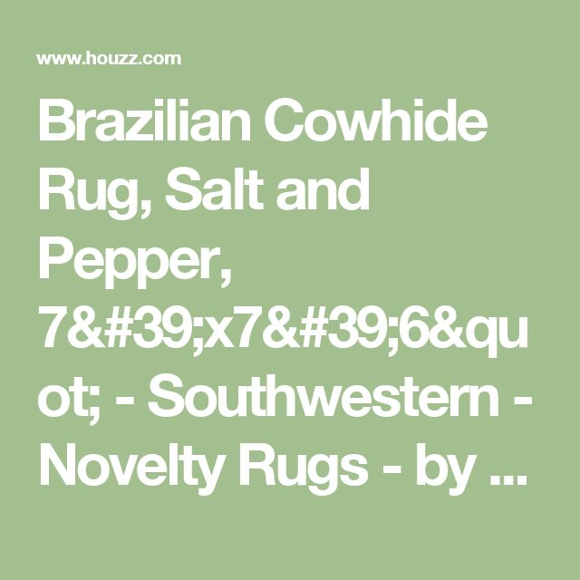 """Brazilian Cowhide Rug, Salt and Pepper, 7'x7'6"""" - Southwestern - Novelty Rugs - by Chesterfield Leather"""