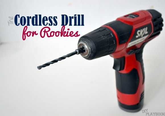 Tips on how to use a cordless drill. There's no need to be afraid of power tools! Get your DIY on!