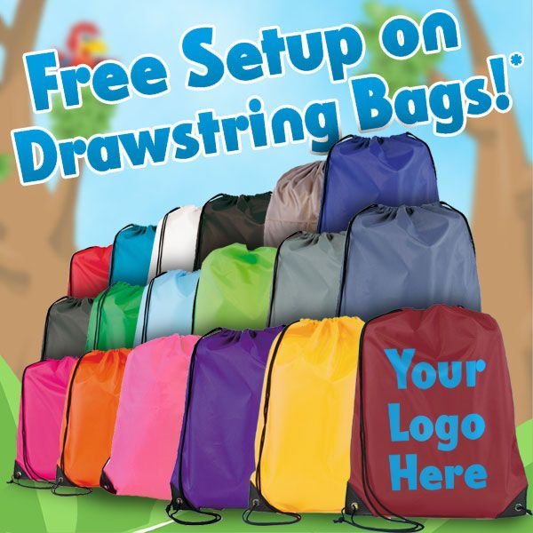 "Get free setup on your next order of Drawstring Bags! Use the discount code ""EYNS3SETUP242"" upon checkout... T&C apply https://www.promoparrot.com/eynsford-drawstring-bag.html #promo #discount #drawstringbag #bags"