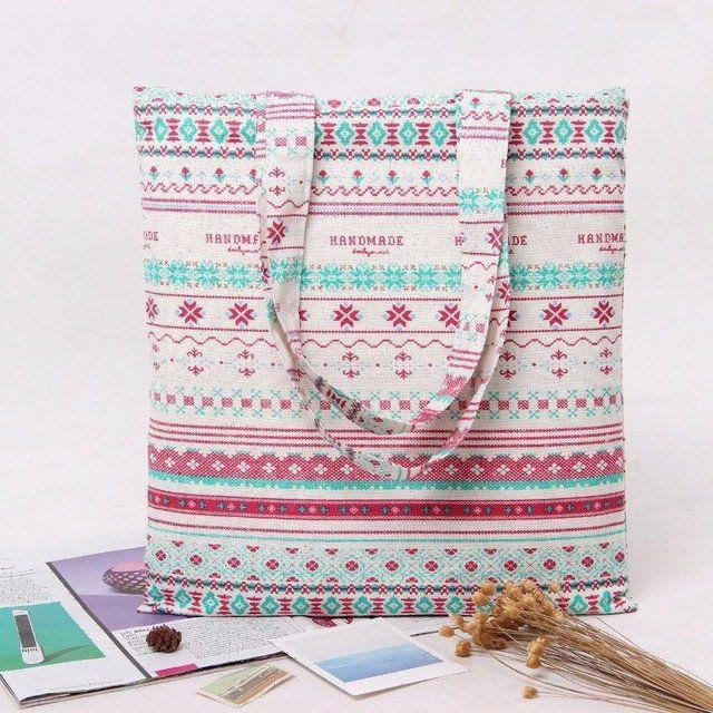 Women's Canvas Handmade Beach Bags (Large Tote)