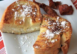 cream cheese stuffed french toast   greens & chocolate