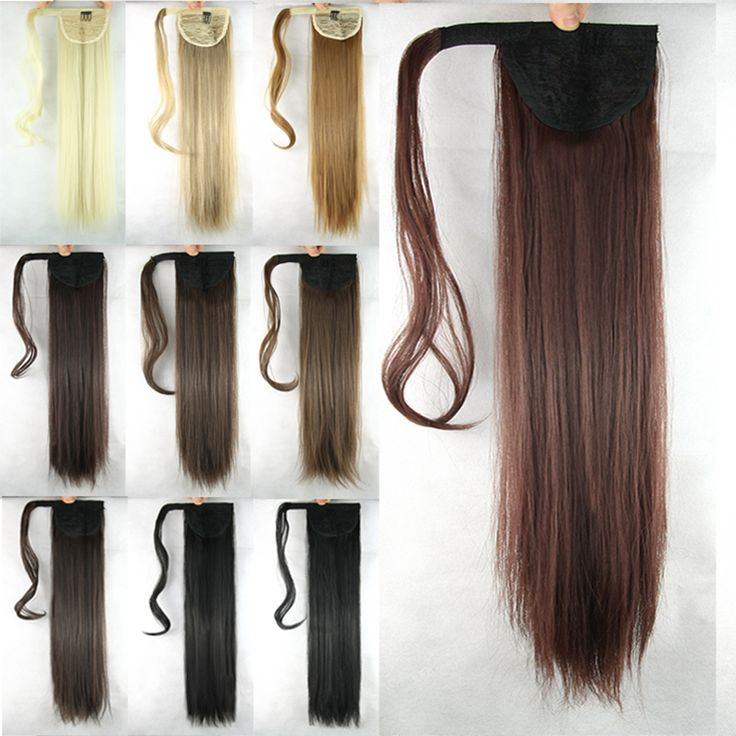 22Inch Long Synthetic Hair Wigs Straight Hair Pieces Pontails De Cabelo Perucas Brazilian Peruvian Blone/Brown/Black ** Find out more about the great product at the image link.