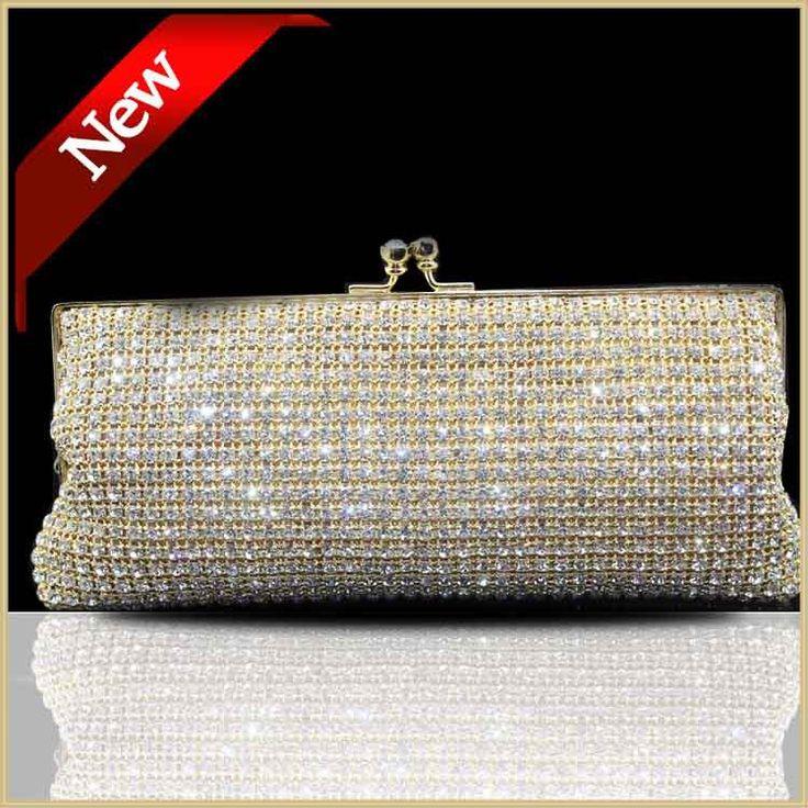 Luxury Brand Женщины Алмаз День Сцепления Золотой Свет Мягкий Кристалл Вечерние сумки Серебряная Свадьба Сцепления Мягкая DHL Бесплатно 80160