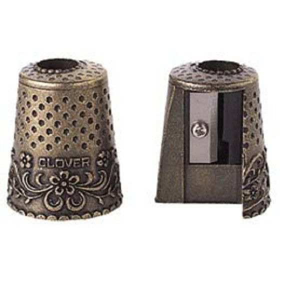 Antique Style Quilters Thimble Pencil Sharpener by CarmensQuilts, $7.75
