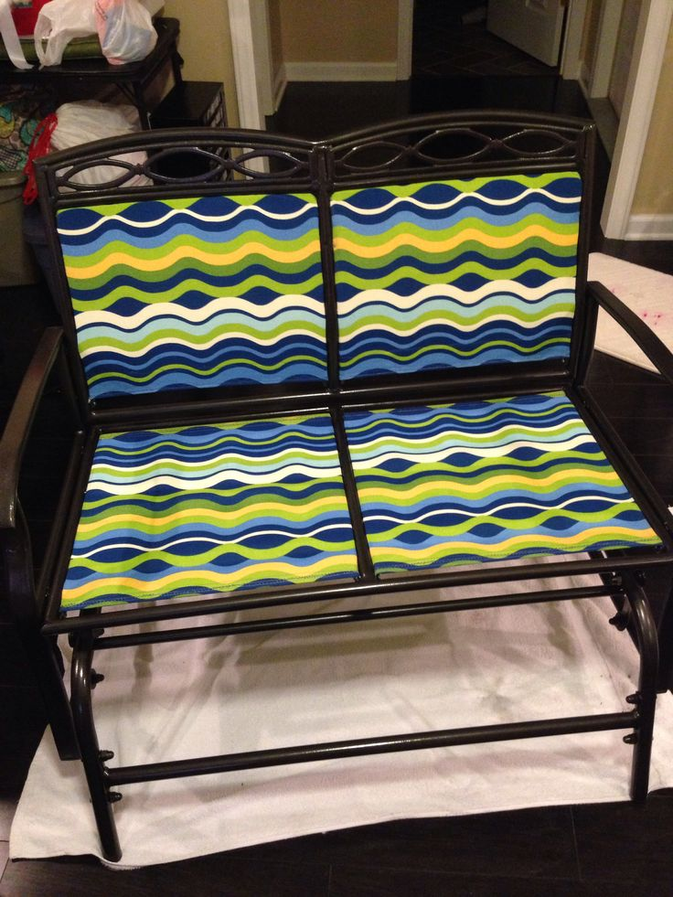Refinished outdoor rocker.