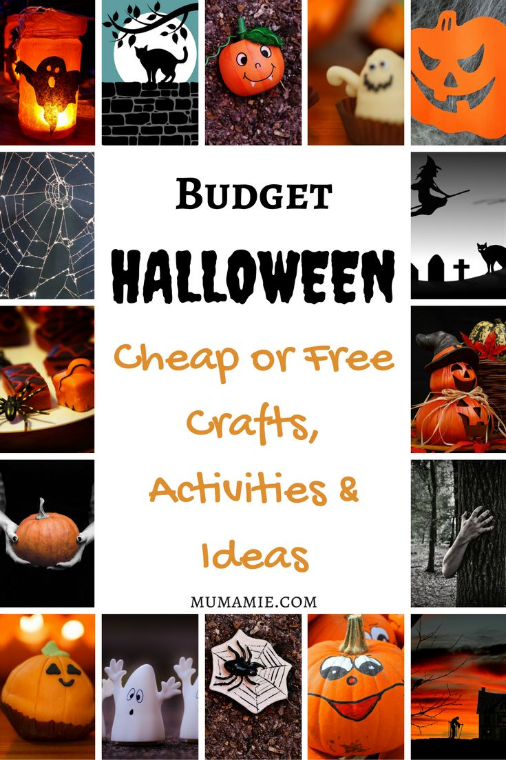 Halloween On A budget  Halloween doesn't have to cost a fortune! Here are some ideas for cheap or free activities, crafts and things to do