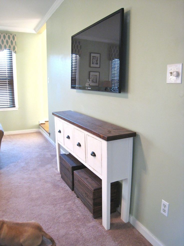 It Wont Take Up As Much Room As Your Normal Tv Console. I Also Love The  Space For Extra Storage Or Seating Underneath.