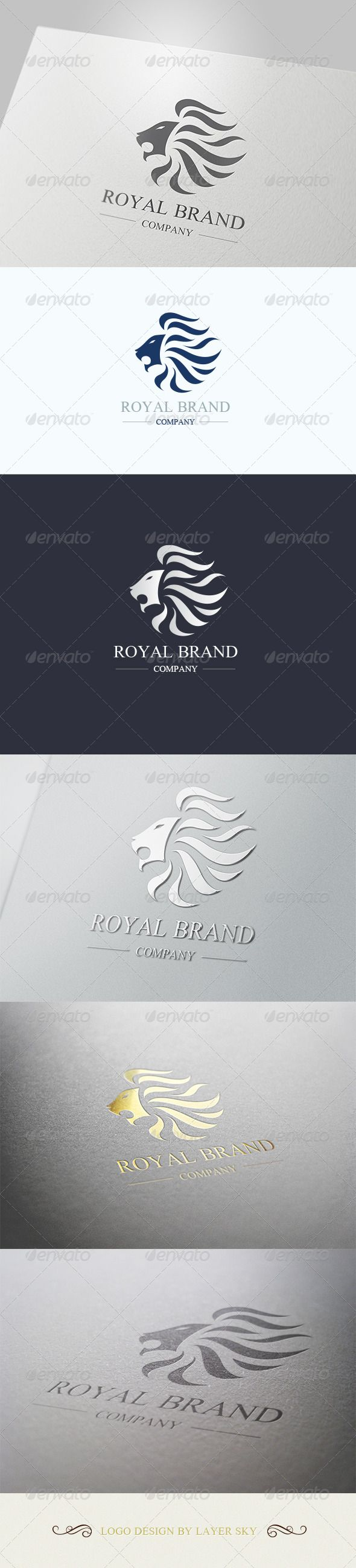 Lion Royal Brand Logo 1 — Vector EPS #happy #luxury • Download here → https://graphicriver.net/item/lion-royal-brand-logo-1/4106421?ref=pxcr