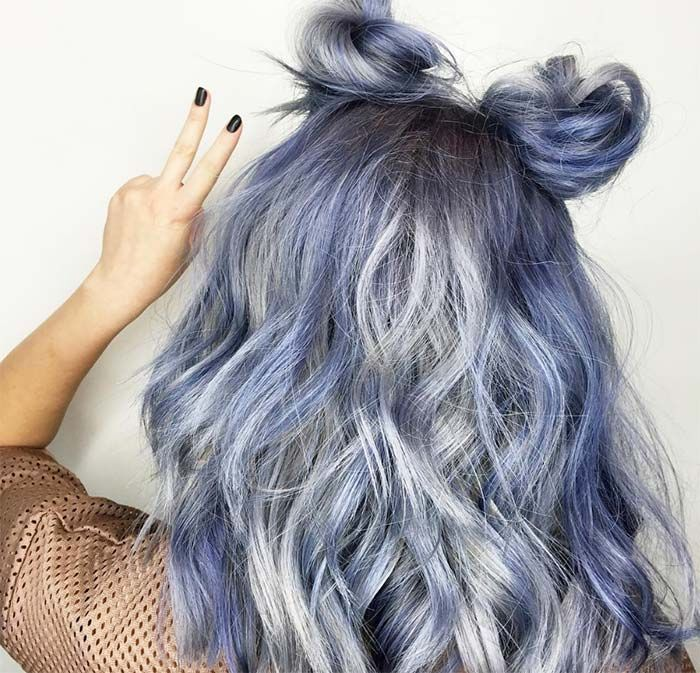 Blue Denim Hair Colors: Bunny Blue Jean Waves #denimhair #bluehair