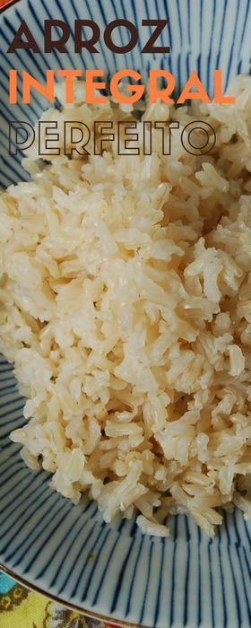 Como fazer um arroz integral soltinho e saboroso na panela elétrica de arroz, economizando bastante tempo na cozinha.