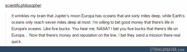 I actually did a report on this for school and Jupiter's other moon, Ganymede, it's quite promising as well.