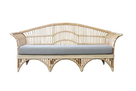 Indoor / outdoor sofas online. This eco friendly Hamptons cane Daybed sofa is beachy and functional. Matching armchair. Hamptons style sofa, daybed, chair