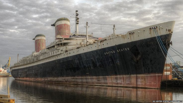 Places for a great holiday...SS United States, these should be made into floating hotels, funded by governments (tax payers) and all profits go towards air-sea rescue, lifeboats and crews.