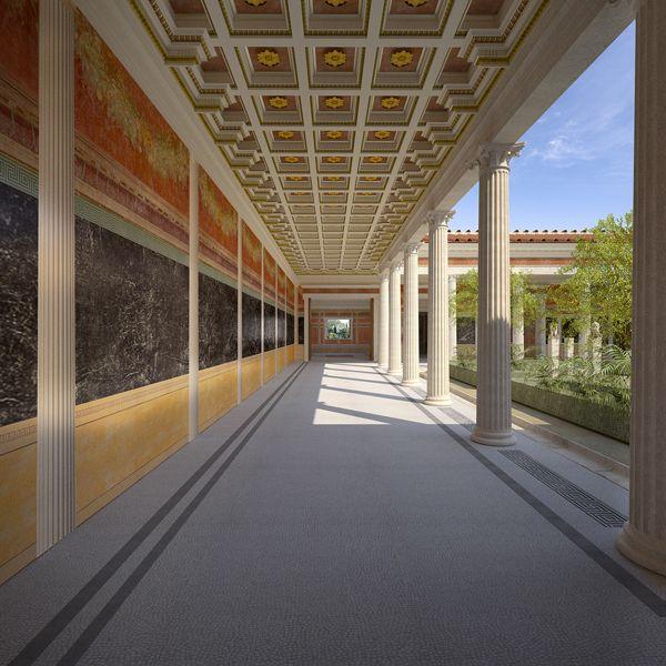 Villa at Boscoreale, reconstruction, Pompeii, Italy on Behance
