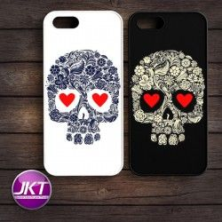 Couple 008 - Phone Case untuk iPhone, Samsung, HTC, LG, Sony, ASUS Brand #couple #phone #case #custom #skull