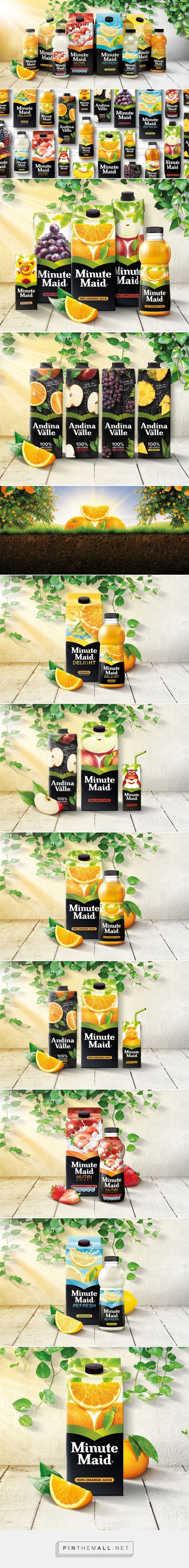 Minute Maid packaging redesign by Taxistudio - http://www.packagingoftheworld.com/2017/07/minute-maid-creation-of-coherent-global.html - created via https://pinthemall.net
