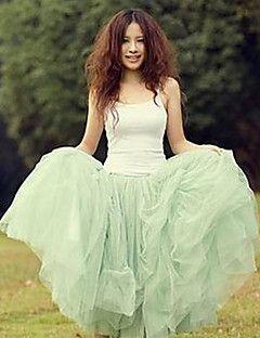 Women's+Sexy+Casual+Cute+Inelastic+Thin+Midi+Skirts+(Mesh)+–+MXN+$+242.91