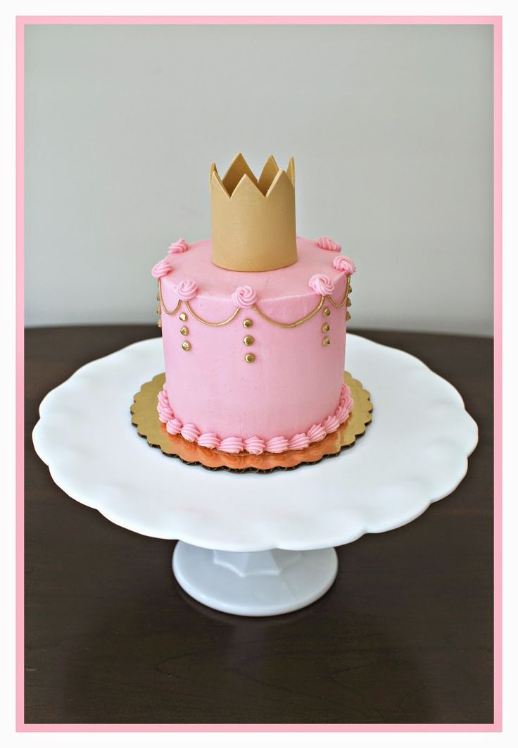 Princess Smash Cake for 1st Birthday by Snacky French