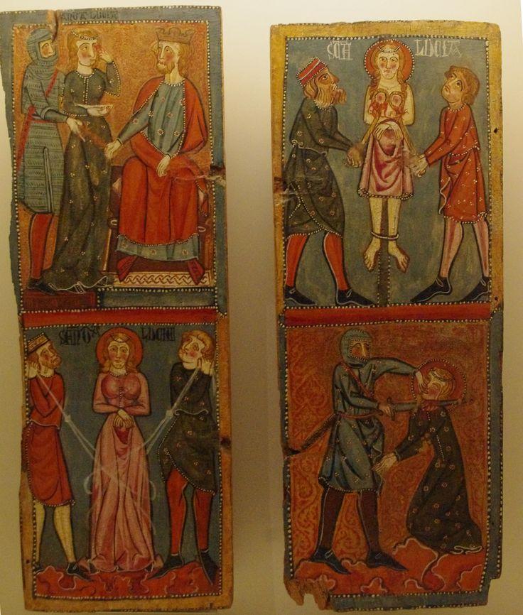 https://flic.kr/p/zBfNPJ | Santa Lucia de Mur, the martyrdom of St Lucy, 12thc MNAC, Barcelona