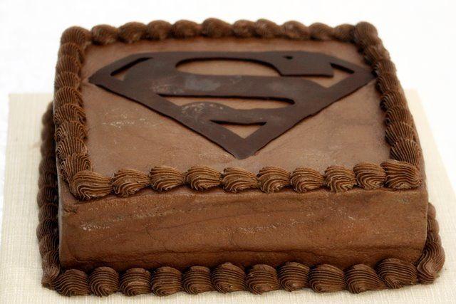 superman grooms cake