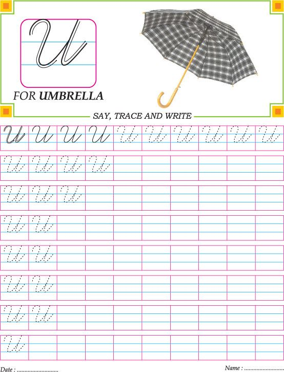 Cursive capital letters practice worksheets