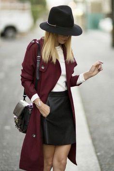 Jupe en simili cuir - comment s'habiller bien