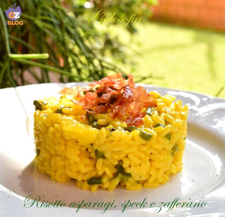 Risotto asparagi, speck e zafferano-ricetta primi-golosofia