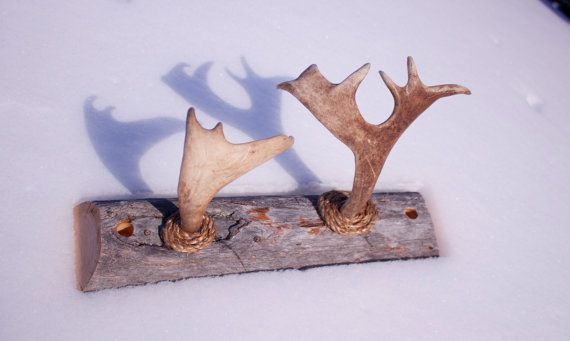 All natural rustic Reindeer Antler coat rack from by Tundrada