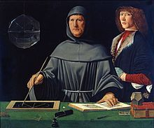 Portrait of Luca Pacioli, father of accounting, painted by Jacopo de' Barbari, 1495, (Museo di Capodimonte).