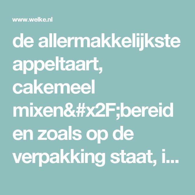 de allermakkelijkste appeltaart, cakemeel mixen/bereiden zoals op de verpakking staat, in het bakblik gieten, appelschijfjes erop plaatsten tegen elkaar aan en kaneel erover en suiker. gewoon de baktijd van de cake aan houden en smullen maar!. Foto geplaatst door Chimalin op Welke.nl