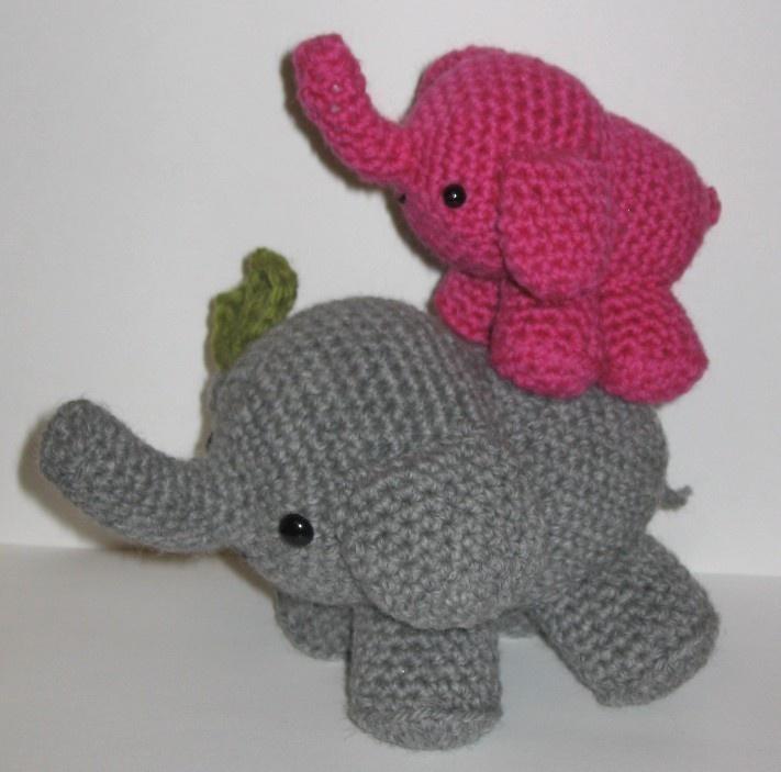 Mom and Baby Elephant - PDF amigurumi crochet pattern. USD3 ...