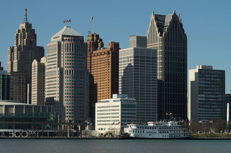 Detroit - Detroit, MI as seen from Windsor, Ontario.