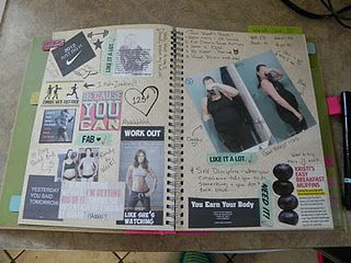 Great idea for a food journal, and I love the motivational pages, that's what I need to do!